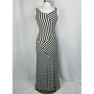 Monteau Fitted Striped Maxi Dress